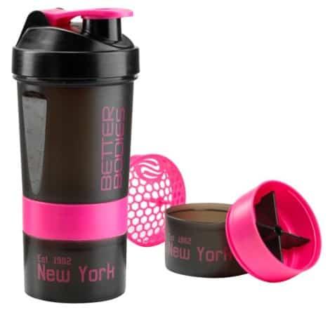svart och rosa shaker från bb pro